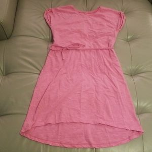 Old Navy pink tshirt high low tshirt dress. Size L